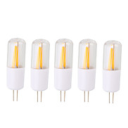 shenmeile 2W LED Filament Bulb G4 Bi-pin Lights T 2 COB 200 lm Warm White Cool White AC/DC 12 V 5 pcs