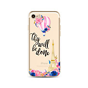 Case for iPhone 7 Plus 7 Cover Transparent Pattern Back Cover Case Eiffel Tower Flower Soft TPU for iPhone 6s plus 6 Plus 6s 6 SE 5s 5c 5 4s 4
