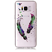 Case For Samsung Galaxy S8 Plus S8 Phone Case TPU Material IMD Process Feather Pattern HD Flash Powder Phone Case S7 Edge S7 S6 Edge S6