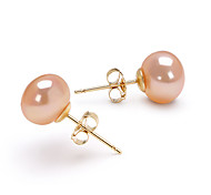 14k or rose 7,5-8mm aaa perle d'eau douce (dszz065)
