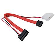 SATA de 7 pines para sata 7 +6 pin cable del disco duro (0,3 m)