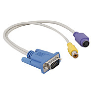 S-Video and RCA F Cable to VGA