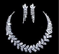 lega belli con set di gioielli da sposa strass, tra collana e orecchini