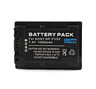 NP-FV50 Compatible 7.4V 1050mAh Battery Pack for Sony HDR-UX5E and More