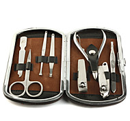 Stainless Steel Manicure Kit (8PCS-Brown)