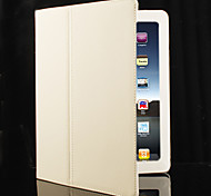 Hard PU Leather Case Skin with Stand for iPad 2/3/4 (White)