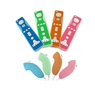 schützende Silikonhülle für Wii / Wii u Remote und Nunchuk-Controller (zufällige Farben)