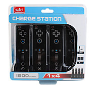 4 Port Charge Station for Nintendo Wii Black