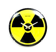 radiação nuclear sinal analógico relógio de parede de vidro