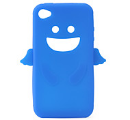 Angel Protective Silica Gel Case for iPhone4 - Blue