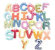 Funny Alphabet 26 Letters Wooden Fridge Magnets Educational Toy (26-Pack)