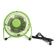 4inch USB Mini Fan With Plastic Blade Ulitra-low Power-wind Volume Green