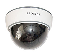 Dummy Security Dome Camera with Blinking Red LED