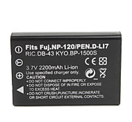 2200mAh 3.7V Digital Camera Battery NP-120 for FUJIFILM FinePix F10,F11,FinePix603