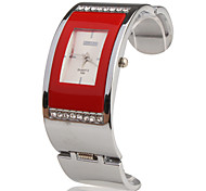 Stainless Steel Bracelet Band Wrist Watch - Red Cool Watches Unique Watches Fashion Watch