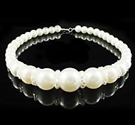 lega con splendida perla imitazione / matrimonio collana di cristallo da sposa