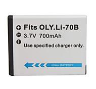 700mAh batteria fotocamera li-70b per Olympus FE-4040, x-940
