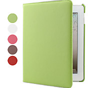 Litchi Grain PU Leather Case w/ 360°Rotatable Hardshell Stand for iPad 2/3/4