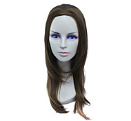 Capless Long High Temperature Wire Brown Straight Hair Wig