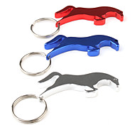 Running Horse Shaped Bottle Opener Keychain (Random Color)