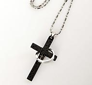 cruz e anel colar