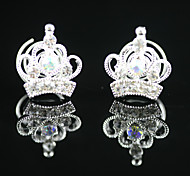 2 Pieces Gorgeous Rhinestones Bridal Pins Party/ Evening Headpieces