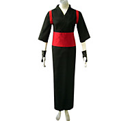 Inspired by Naruto Temari Anime Cosplay Costumes Cosplay Suits / Kimono Patchwork Black / Red Long SleeveYukata / Gloves / Belt / Leg