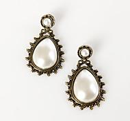 Damen Ohrring Legierung Künstliche Perle Drop Earrings