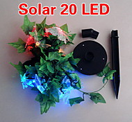 Solar 2M 20-LED Colorful Light Butterfly Design String Lamp for Christmas