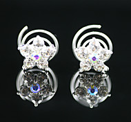 2 Pieces Gorgeous Rhinestones Bridal Pins Party Headpieces