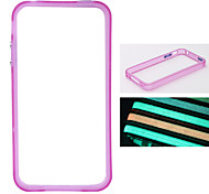 Glow-in-the-dark Bumper Case for iPhone 4 - Purple