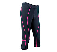 Santic - Cycling 3/4 tights/short pants Women's Coolmax Material Cycling 3/4 Shorts Pink Trace with pad