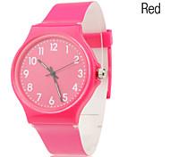 Plastic Band Quartz Wrist Watch