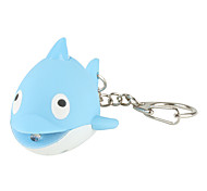 Dolphin Keychain with LED Flashlight and Sound Effects