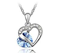 сияющий кристалл и платины покрыты сплавом любви олень формы ожерелье кулон