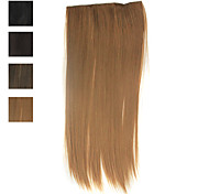 100% Heat-Friendly Fiber Silky Straight Clip In Hair Extension 4 Colors Available