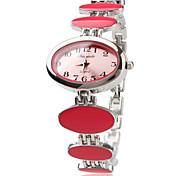 Legierung Band Quarz Armbanduhr für Frauen