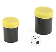 Gimmick Magic Props-Thousand Mile Eye See Dice Through Black Case