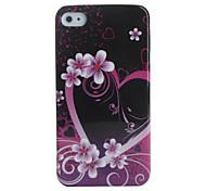 Herzen und Blumen-Muster Hülle für das iPhone 4 / 4S