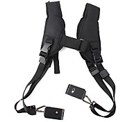 Quick Double Shoulder Belt Strap with 2 Metal Locks for DSLR Cameras
