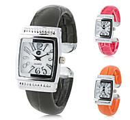 femmes pu analogique montre bracelet à quartz (couleurs assorties)