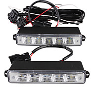 voiture éclairage diurne (2 pcs, 5 LED, lumière blanche, imperméable)