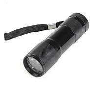 LED Flashlights / Handheld Flashlights LED 1 Mode Lumens Others 10440 Others , Black Aluminum alloy