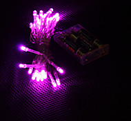 3m 30-led rosa chiaro 2 modalità LED String lampada fata per natale (3xAA)