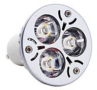 Lâmpada de Foco GU10 3 W 270 LM 6000K K Branco Natural 3 LED de Alta Potência AC 85-265 V MR16