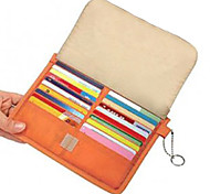 40-Slot Leather Credit Card Holder (Orange)