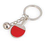 Stylish Alloy Ping-pong Design Keychain