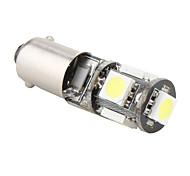 BA9s 1w 5x5050 lumière blanche SMD a mené l'ampoule pour lampe de frein de voiture (12v)