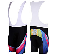 Kooplus Cycling Bib Shorts Men's Bike Breathable Quick Dry Bib Shorts Shorts Bottoms Polyester Patchwork Spring Summer Cycling/Bike