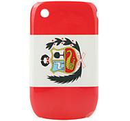 bandera de Perú patrón de estuche protector para blackberry 8520 y 8530